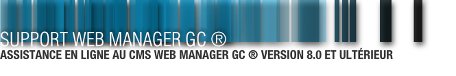 Support - Web Manager GC ®