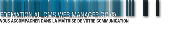 Formation - Web Manager GC ®
